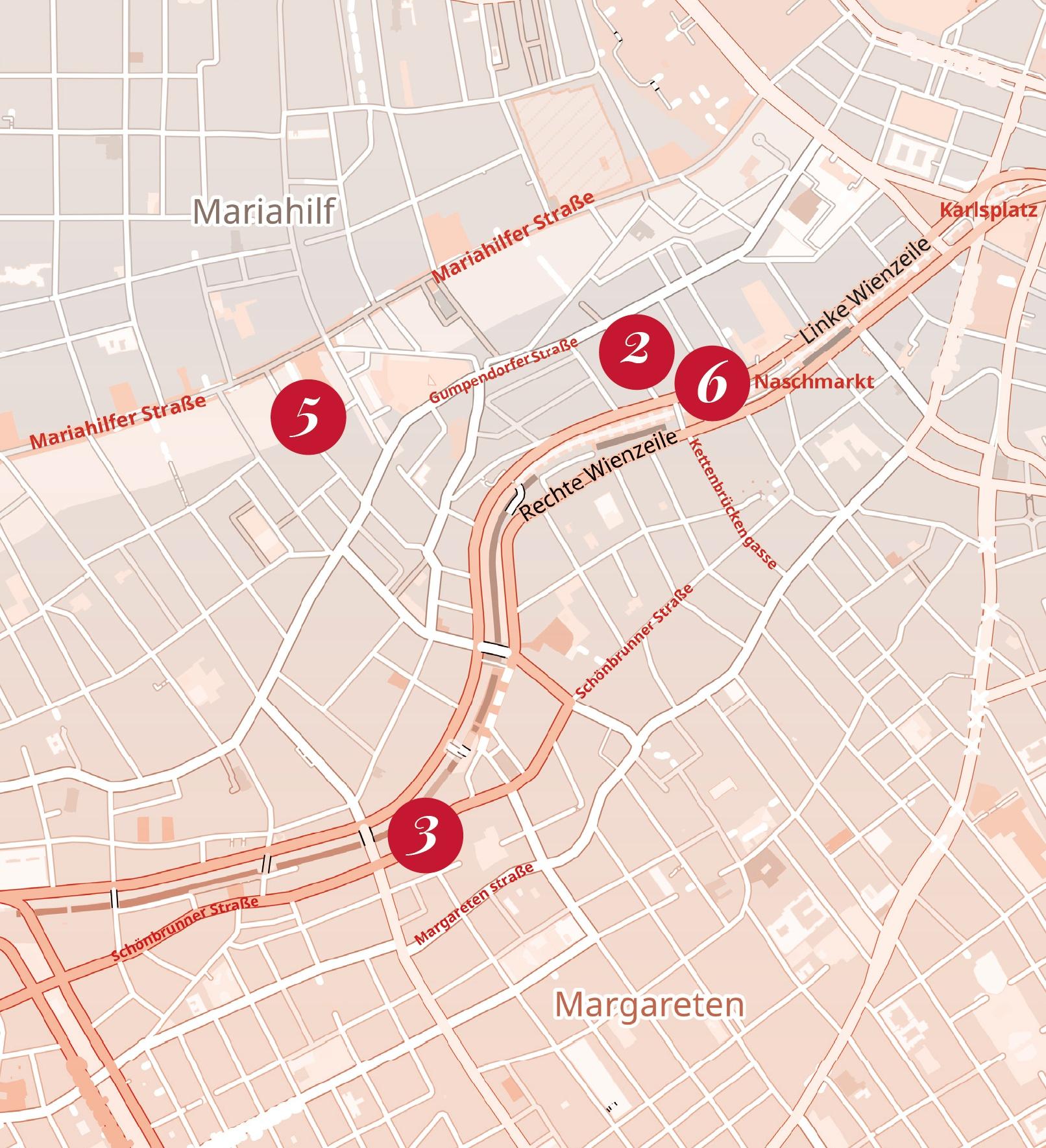 Karte von Wien